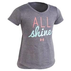 Under Armour All Shine Grey Tee Shirt Girls Size 6